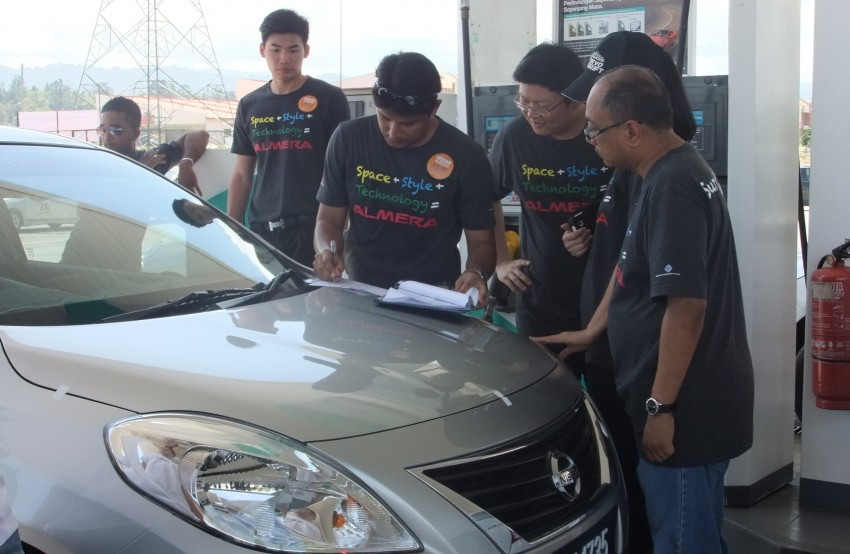 Nissan Almera owners battle it out in the Lightfoot Quest fuel efficiency competition: 33.6km/l achieved! Image #163632