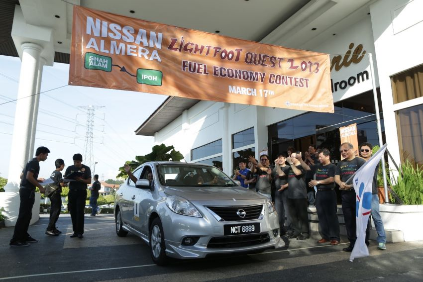 Nissan Almera owners battle it out in the Lightfoot Quest fuel efficiency competition: 33.6km/l achieved! Image #163624