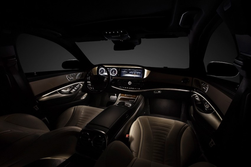 W222 2014 Mercedes-Benz S-Class interior revealed!