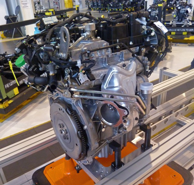 FordÕs new 1.5-litre EcoBoost engine; the fifth member of Ford
