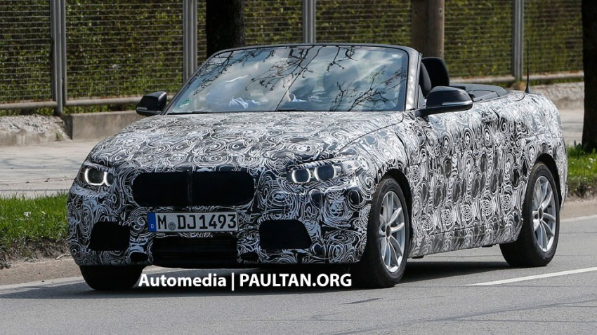 BMW 2-Series Convertible spied with the top down Image #171596