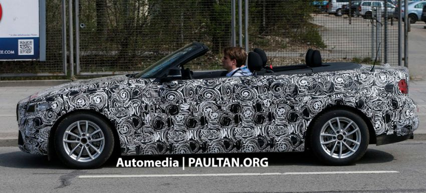 BMW 2-Series Convertible spied with the top down Image #171595