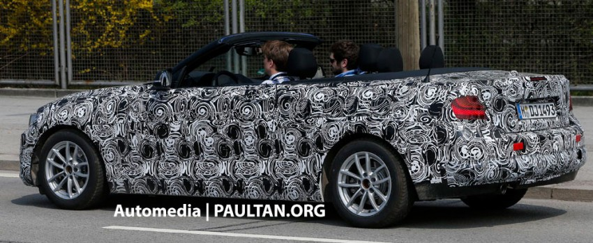 BMW 2-Series Convertible spied with the top down Image #171592