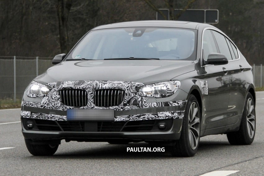 SPYSHOTS: BMW 5 Series GT to get mid-life facelift Image #168220