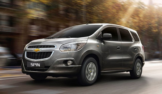 Chevrolet Spin Launched In Thailand 7 Seater Mpv