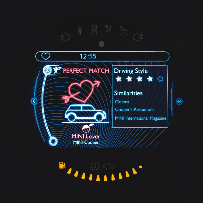 MINI plays cupid with Connect Us in-car dating app Image #165718