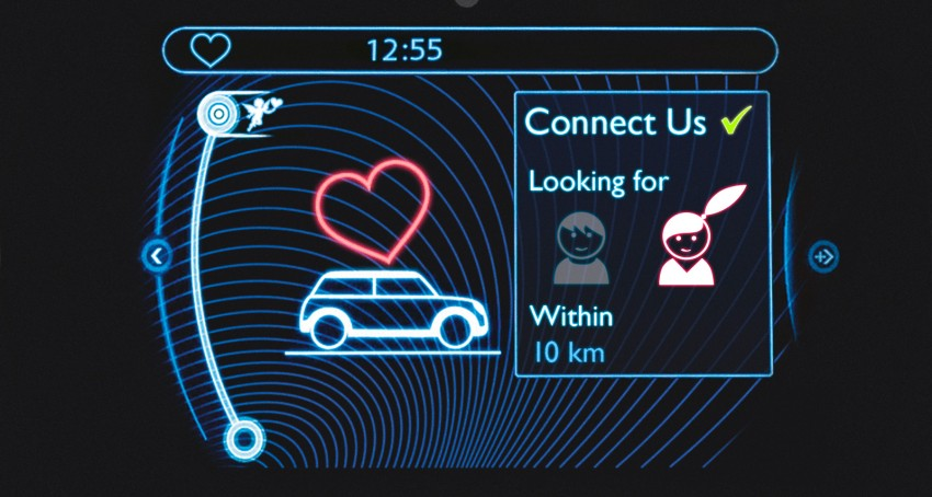MINI plays cupid with Connect Us in-car dating app Image #165713