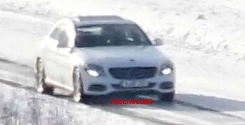 W205 Mercedes-Benz C-Class caught undisguised! Image #168803