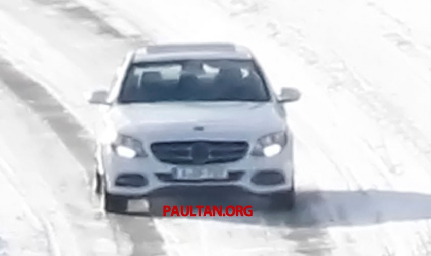 W205 Mercedes-Benz C-Class caught undisguised! Image #168801