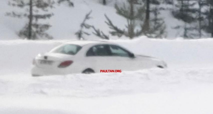 W205 Mercedes-Benz C-Class caught undisguised! Image #168797