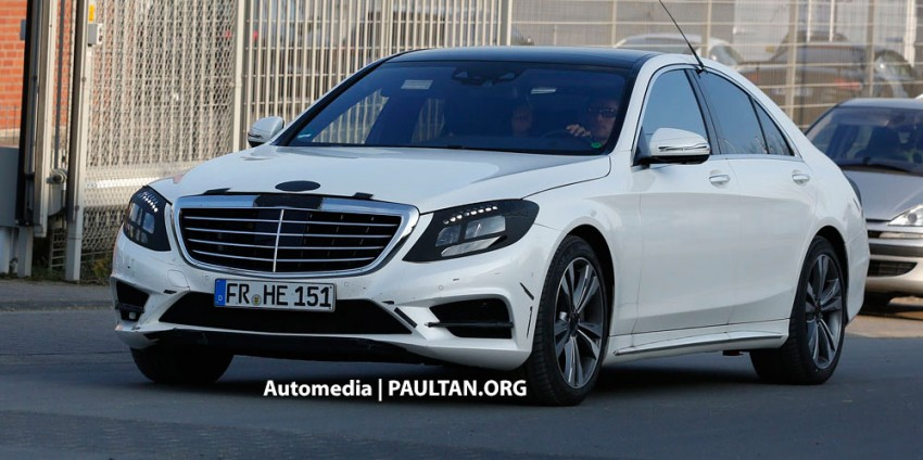 W222 Merc S-Class sighted again, this time in white Image #171219