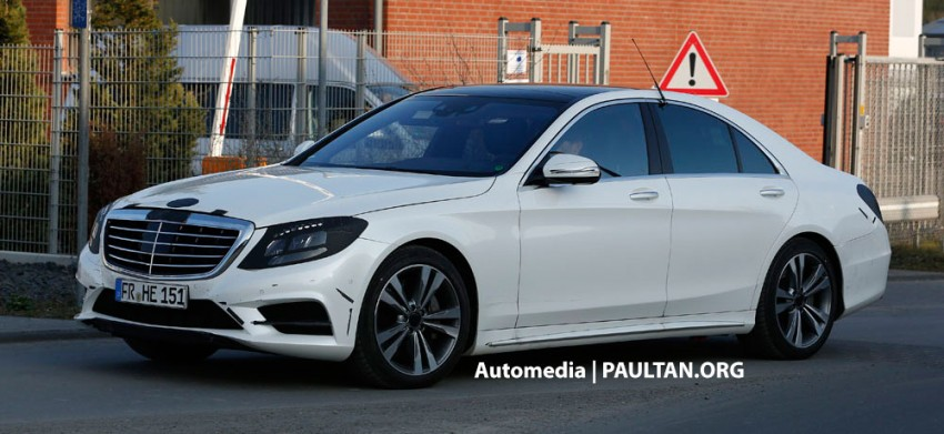 W222 Merc S-Class sighted again, this time in white Image #171221