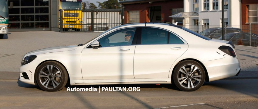 W222 Merc S-Class sighted again, this time in white Image #171218