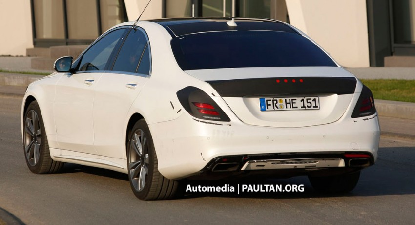 W222 Merc S-Class sighted again, this time in white Image #171217