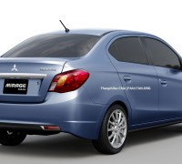 Mirage Sedan rear render