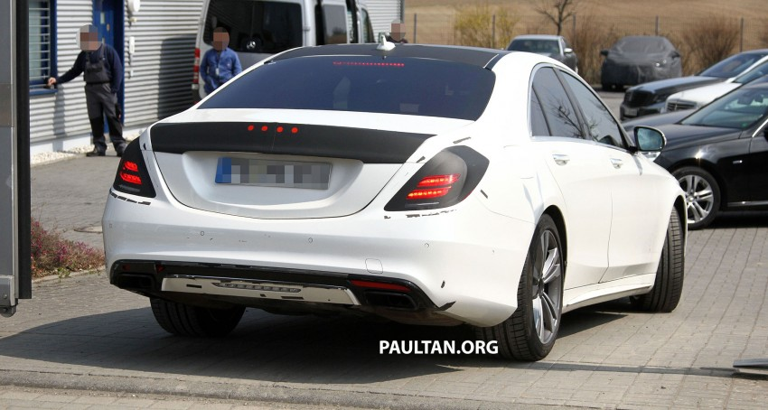W222 Merc S-Class sighted again, this time in white Image #170948