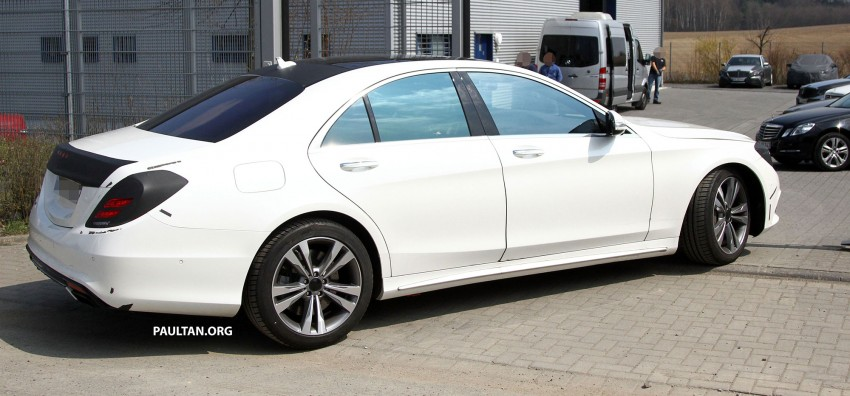 W222 Merc S-Class sighted again, this time in white Image #170949