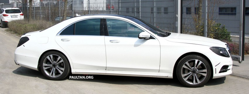 W222 Merc S-Class sighted again, this time in white Image #170951