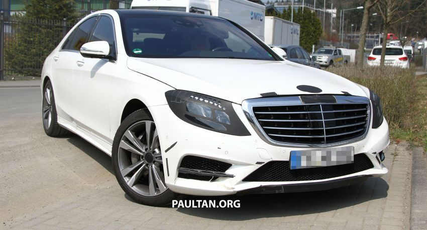 W222 Merc S-Class sighted again, this time in white Image #170959