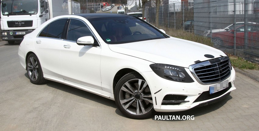 W222 Merc S-Class sighted again, this time in white Image #170953