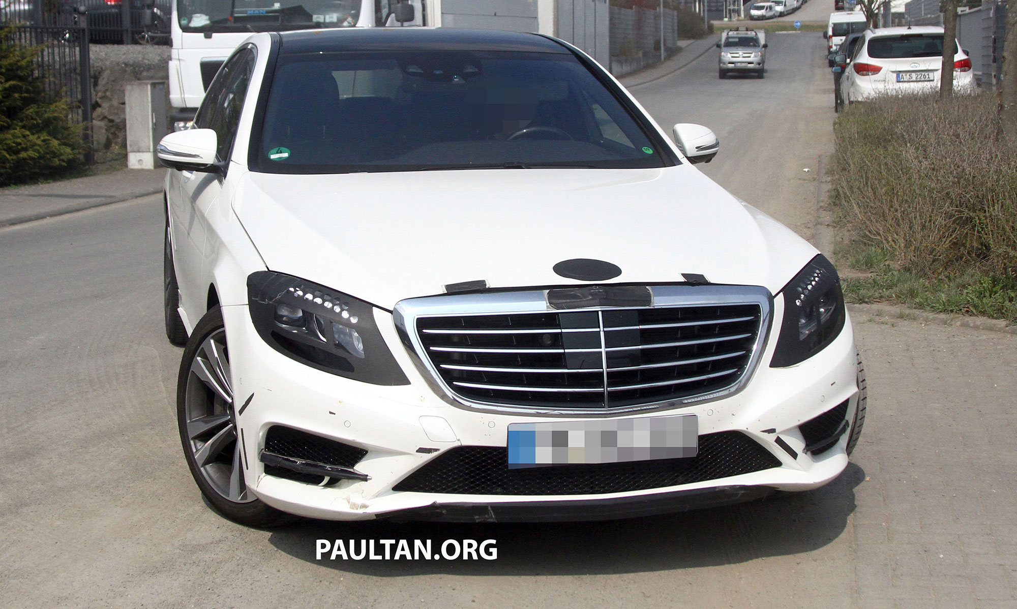 2017 White Mercedes Benz >> W222 Merc S-Class sighted again, this time in white Image 170954
