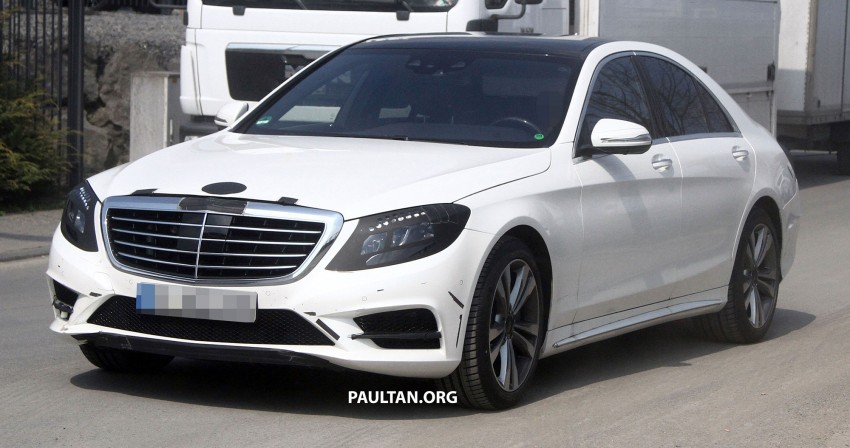W222 Merc S-Class sighted again, this time in white Image #170955