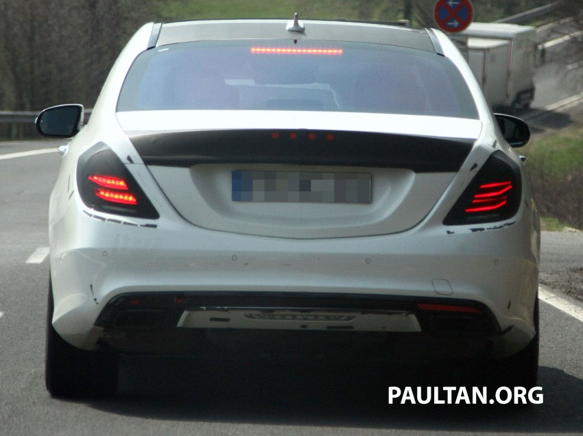 W222 Merc S-Class sighted again, this time in white Image #170956