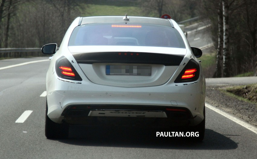 W222 Merc S-Class sighted again, this time in white Image #170957
