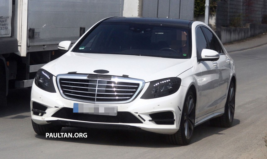 W222 Merc S-Class sighted again, this time in white Image #170958
