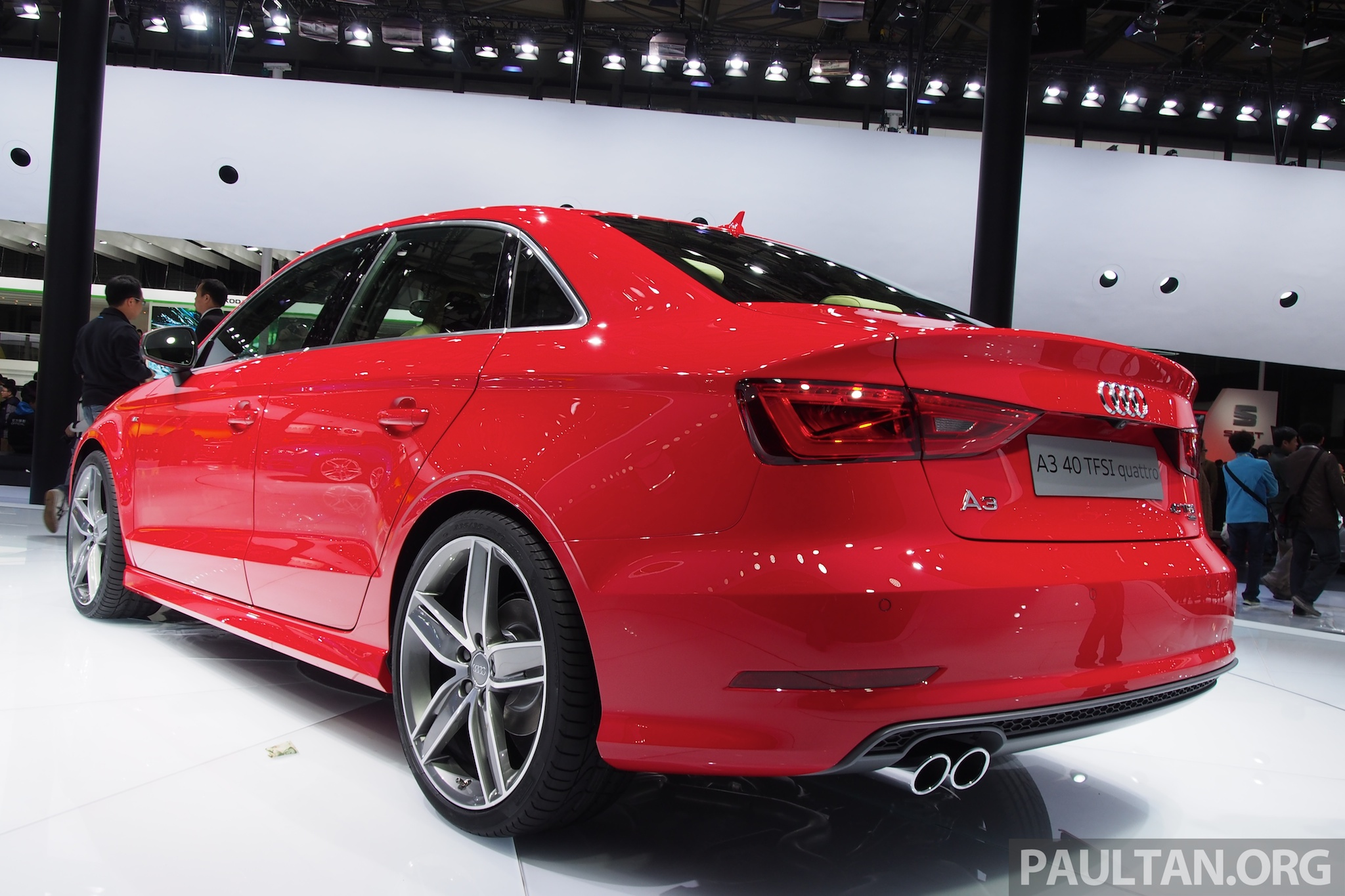 shanghai 2013 audi a3 sedan makes public debut. Black Bedroom Furniture Sets. Home Design Ideas