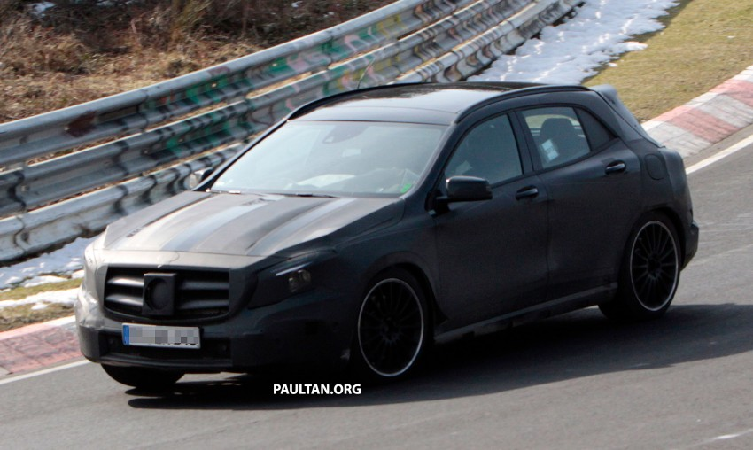SPIED: Mercedes-Benz GLA 45 AMG on the 'Ring Image #167706