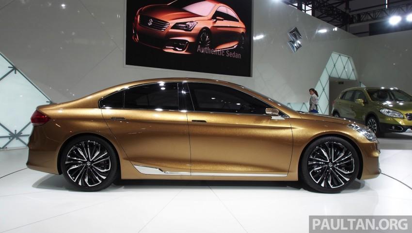Shanghai 2013 Live: Suzuki Authentics Concept previews upcoming C-segment sedan Image #170122