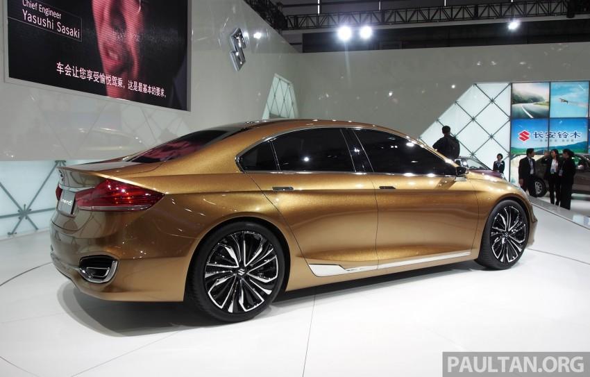 Shanghai 2013 Live: Suzuki Authentics Concept previews upcoming C-segment sedan Image #170114