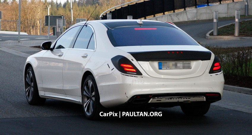 W222 Merc S-Class sighted again, this time in white Image #171309