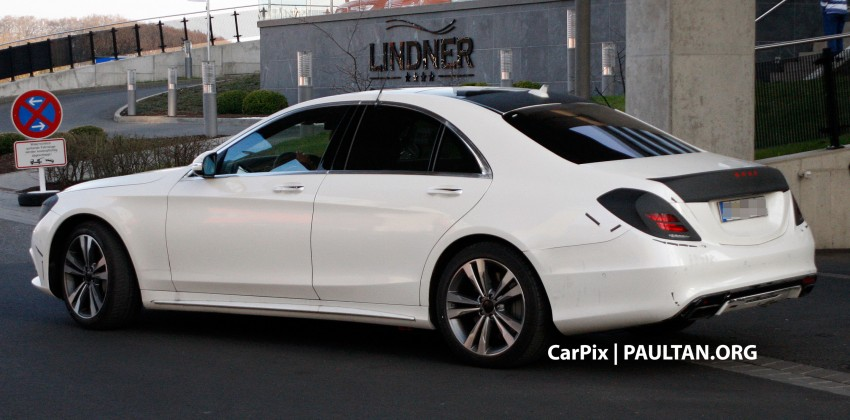 W222 Merc S-Class sighted again, this time in white Image #171310