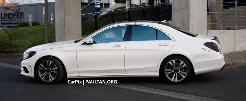 W222 Merc S-Class sighted again, this time in white Image #171311