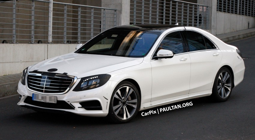 W222 Merc S-Class sighted again, this time in white Image #171312