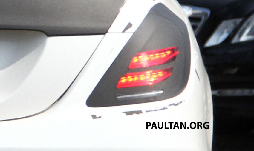 W222 Merc S-Class sighted again, this time in white Image #170961