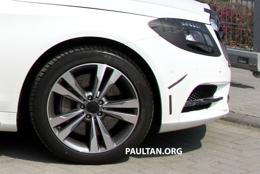 W222 Merc S-Class sighted again, this time in white Image #170960