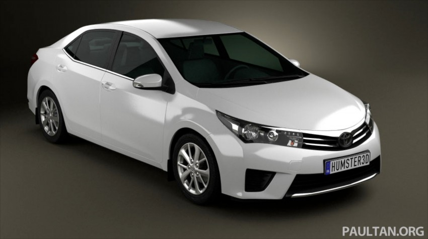 See the next-gen Toyota Corolla Altis from all angles! Image #177050