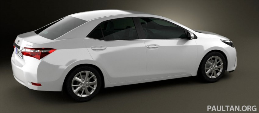 See the next-gen Toyota Corolla Altis from all angles! Image #177053