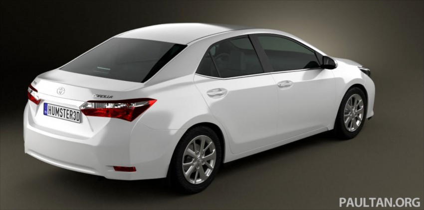 See the next-gen Toyota Corolla Altis from all angles! Image #177054