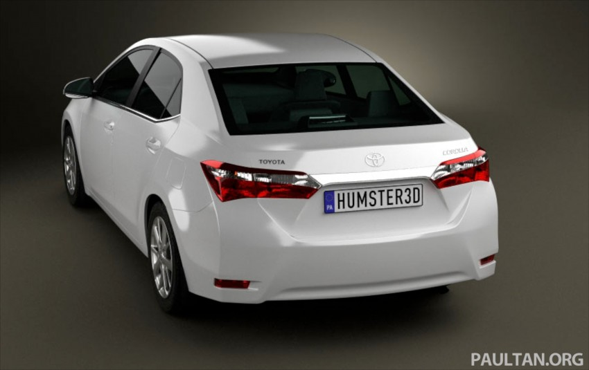 See the next-gen Toyota Corolla Altis from all angles! Image #177058