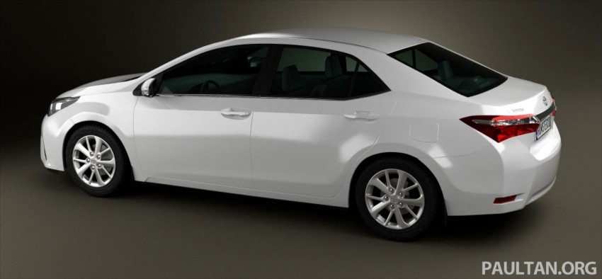 See the next-gen Toyota Corolla Altis from all angles! Image #177060