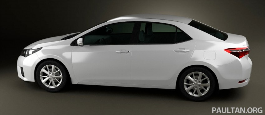 See the next-gen Toyota Corolla Altis from all angles! Image #177061