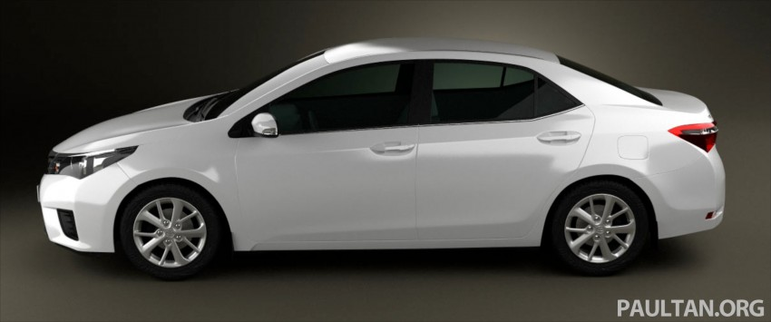See the next-gen Toyota Corolla Altis from all angles! Image #177062
