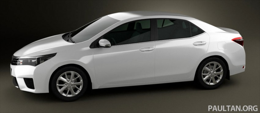 See the next-gen Toyota Corolla Altis from all angles! Image #177063