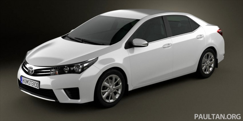 See the next-gen Toyota Corolla Altis from all angles! Image #177065
