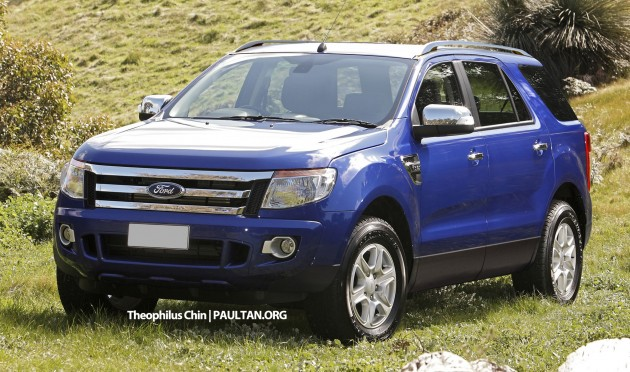 Ford Everest new T6-based render 01
