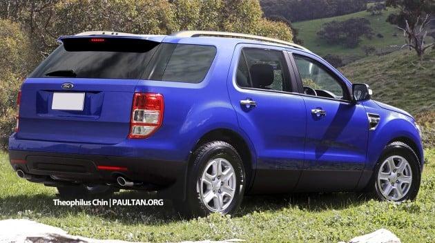 Ford Everest new T6-based render 02